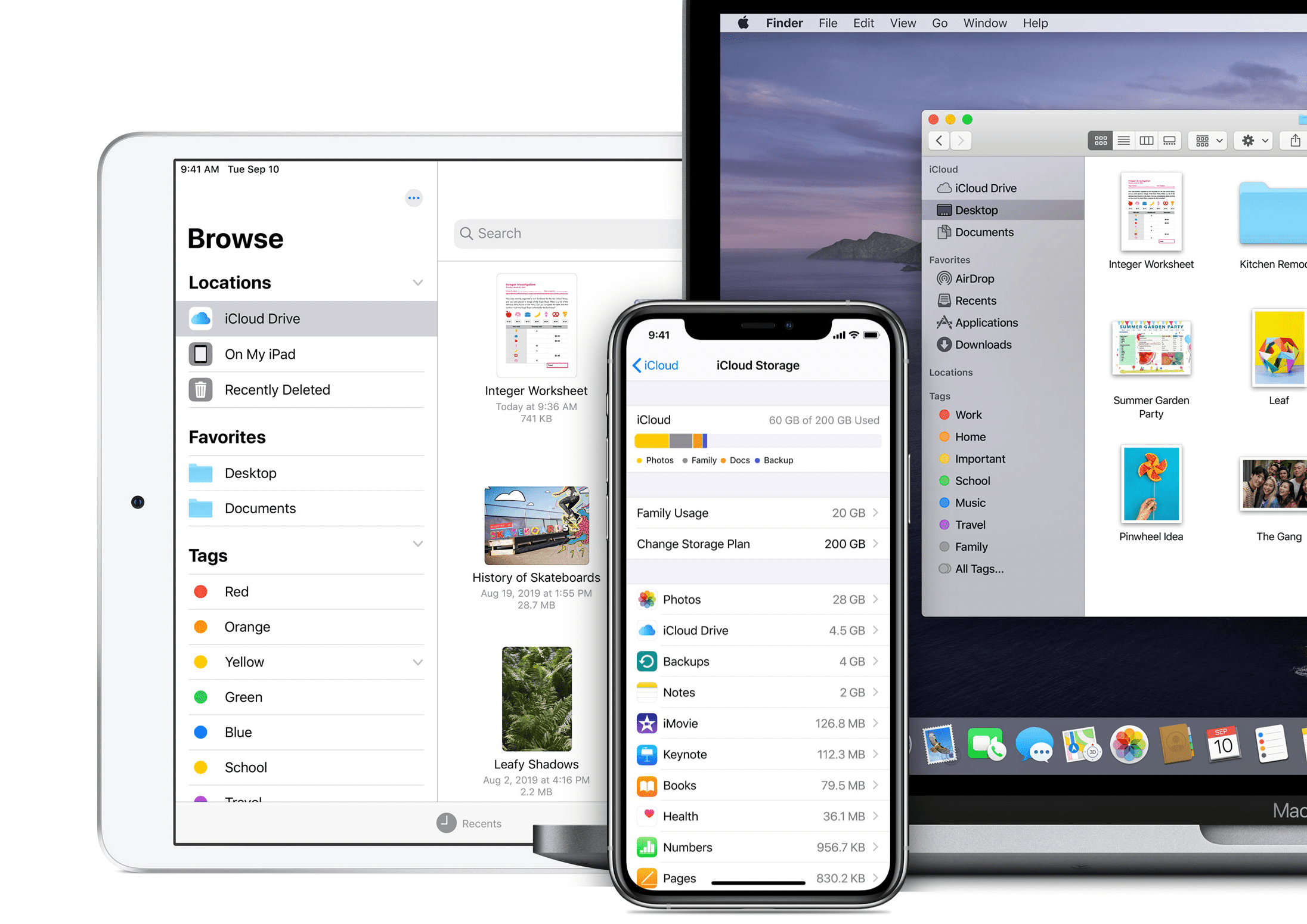iCloud on iPhone, iPad, and MacBook
