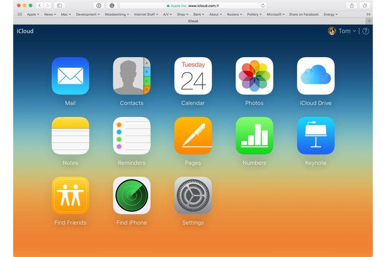 iCloud Web Page