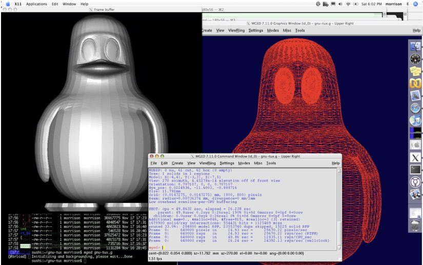 BRL-CAD STL file viewer and modeling program