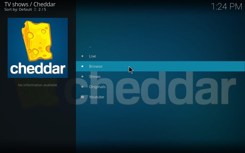 Cheddar Kodi Add-on