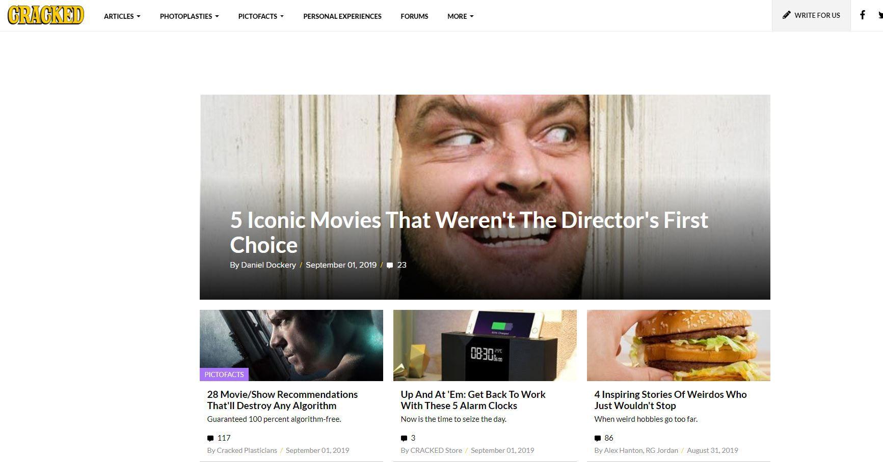 Cracked.com website