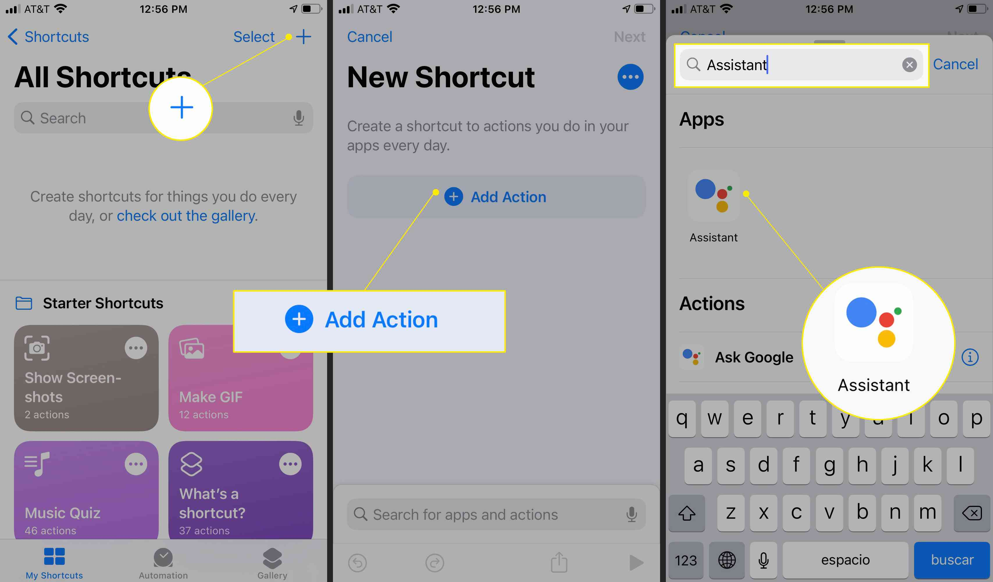 Adding a Shortcut with