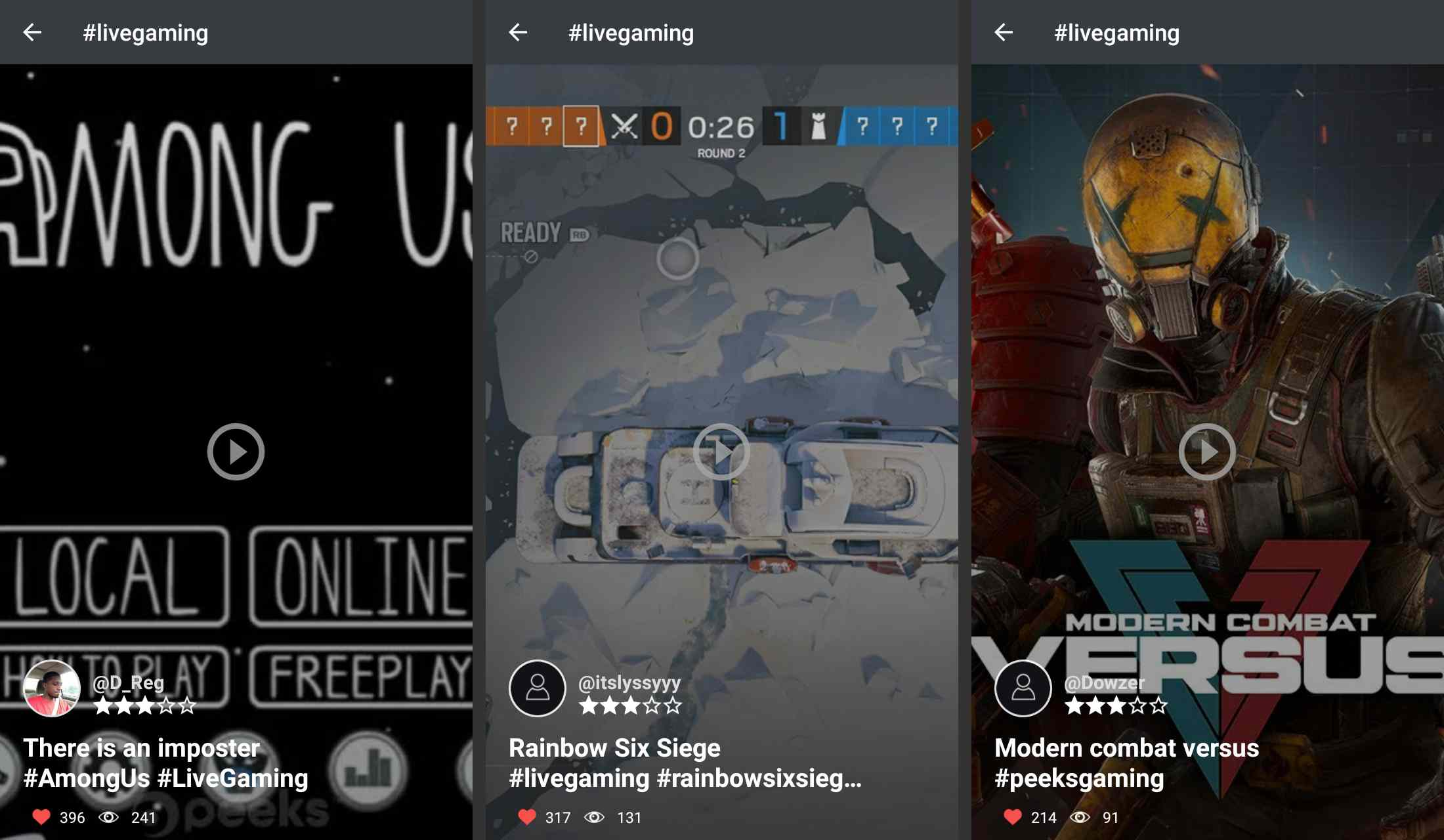 Peek Social social media app for Android