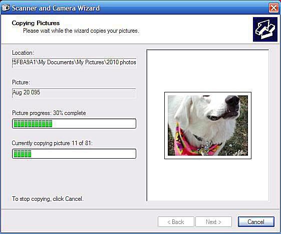 Screenshot Scanner and Camera Wizard