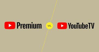 Logos of YouTube Premium and YouTube TV