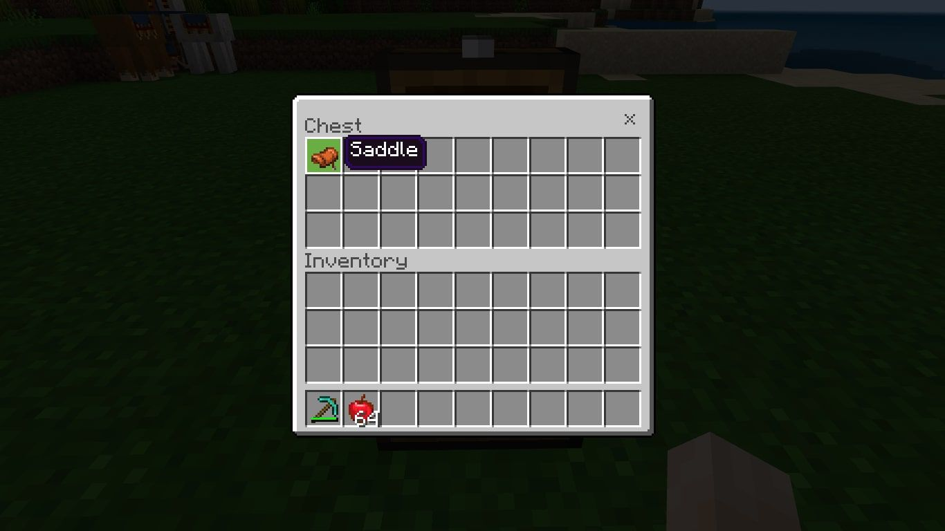 Saddle in a Chest in Minecraft