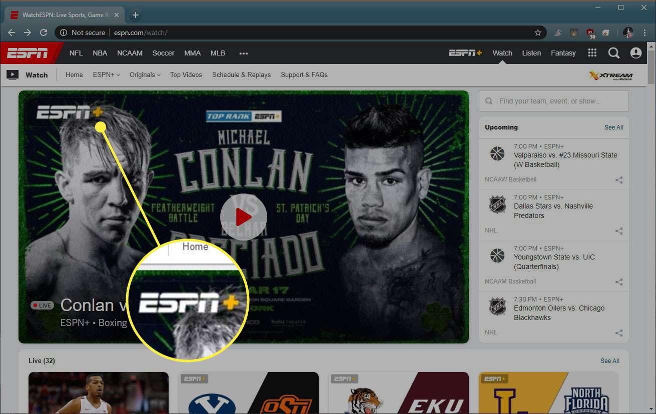 The ESPN+ logo