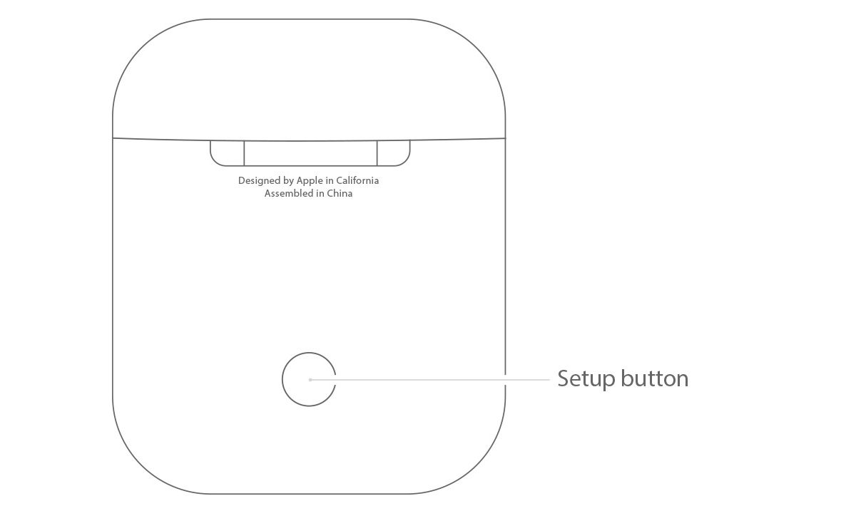 Airpods set up button