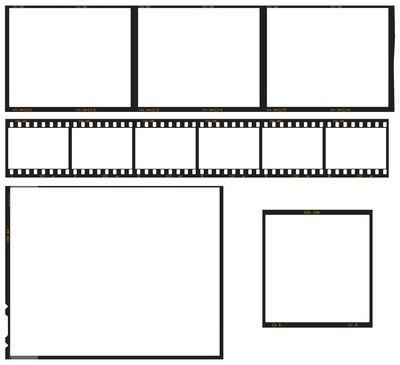 Film reel cut outs