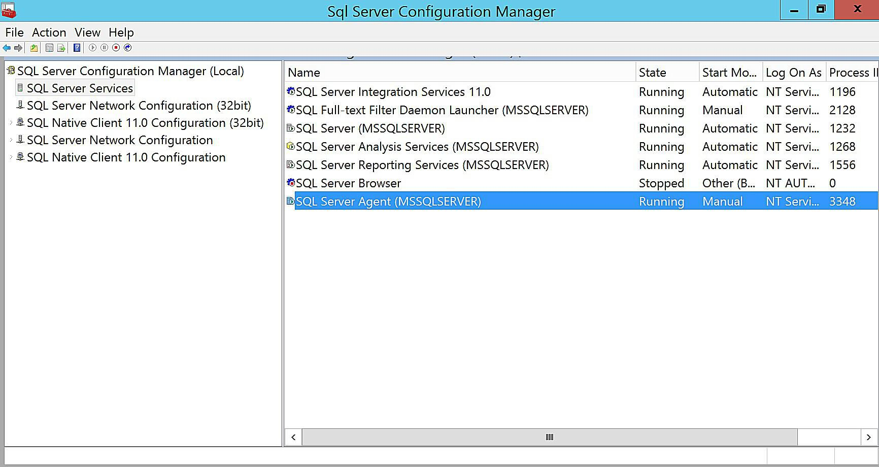 Configuring SQL Server Agent 2012