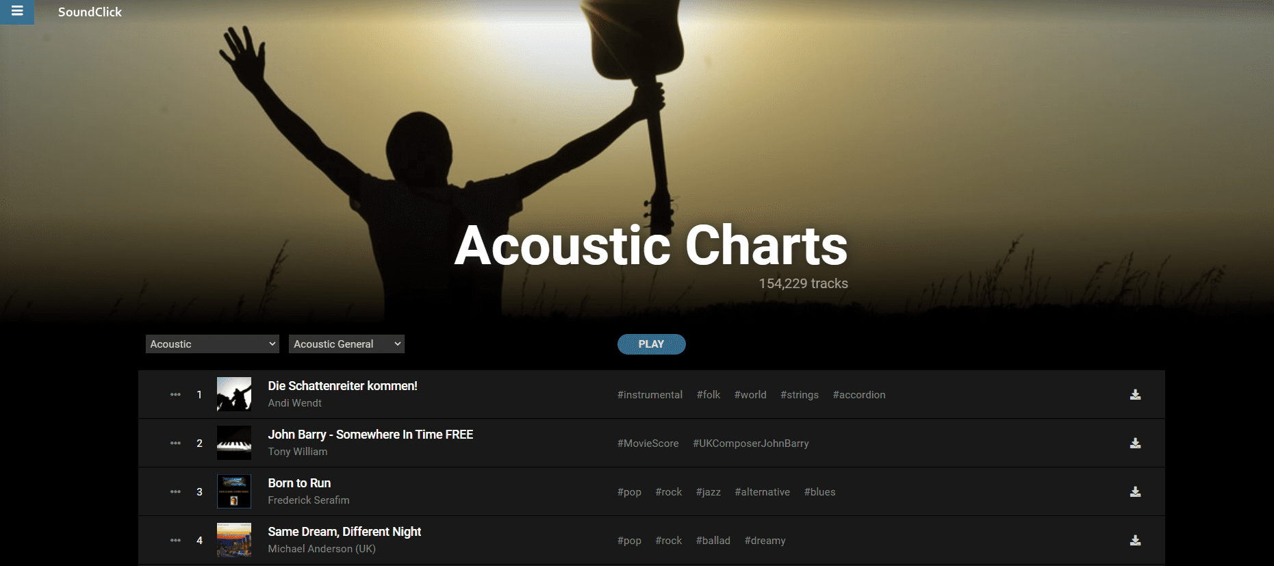 free acoustic music downloads at soundclick