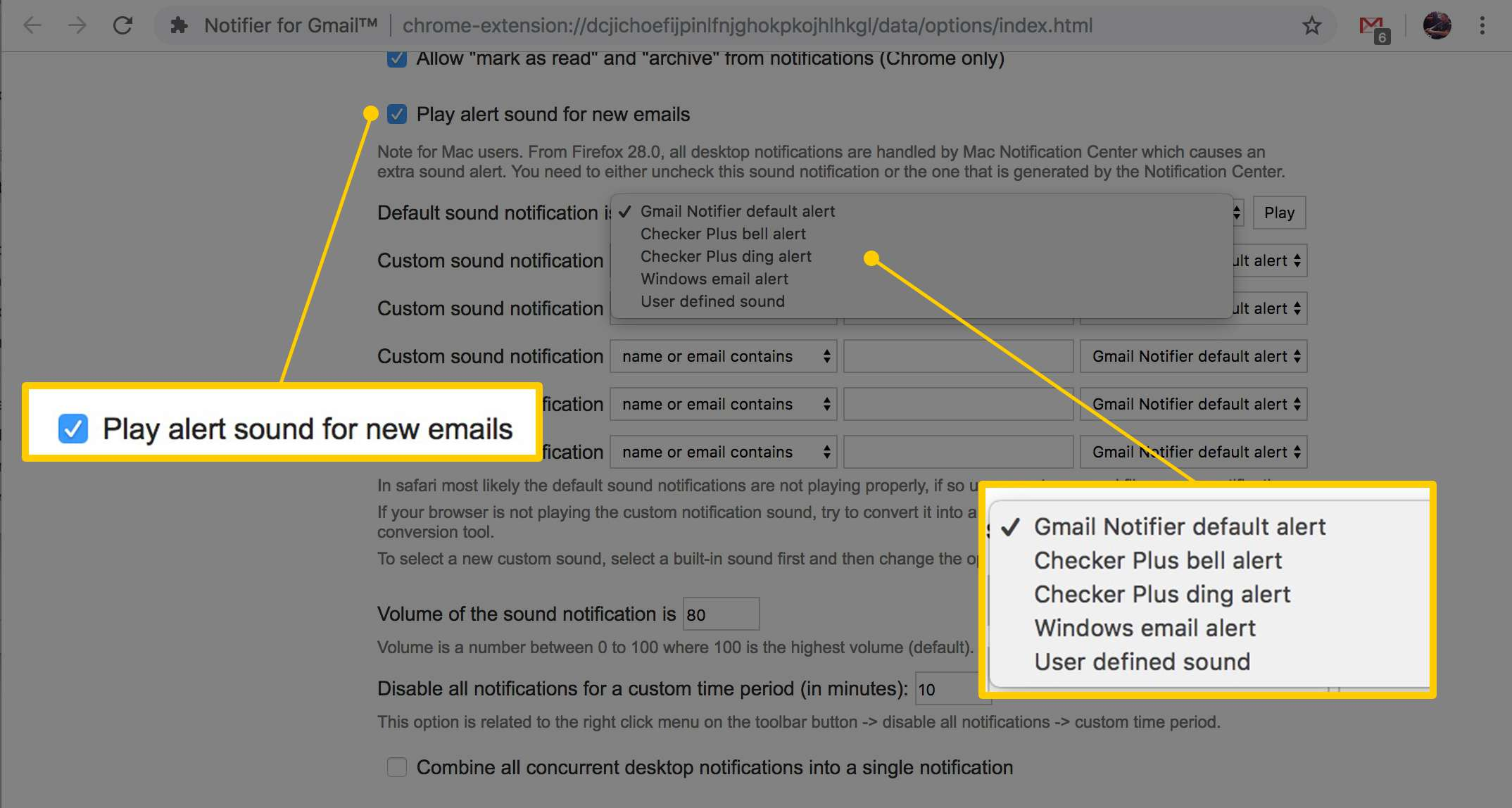 How to Get Gmail Sound Notifications