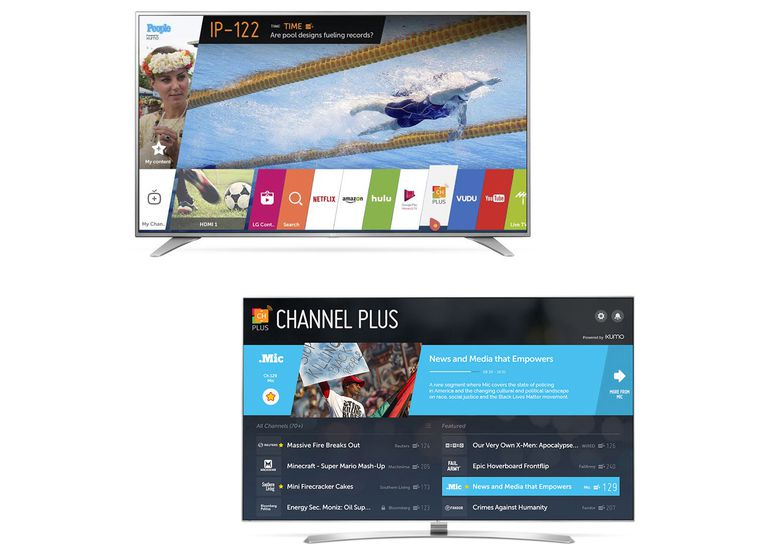 LG WebOS 3.0 With Channel Plus Examples