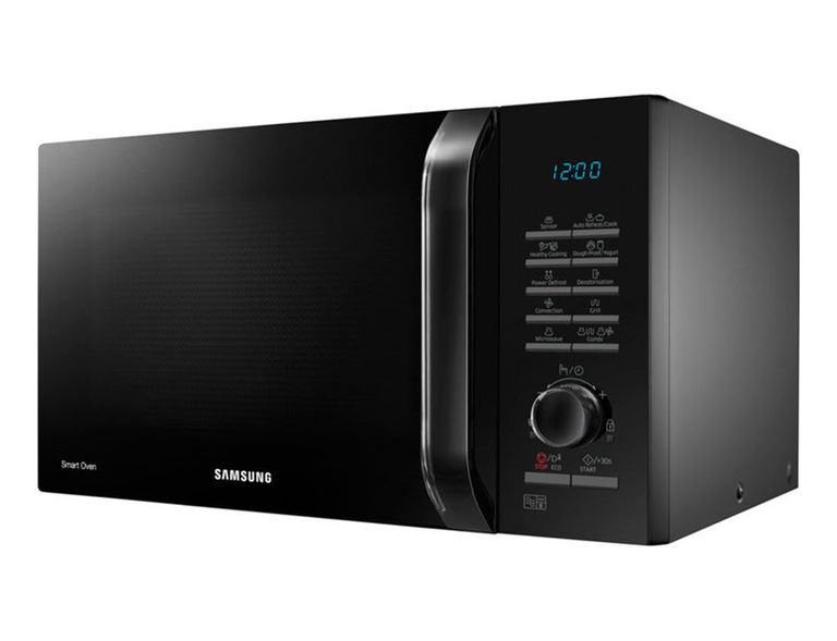 Black Samsung smart microwave