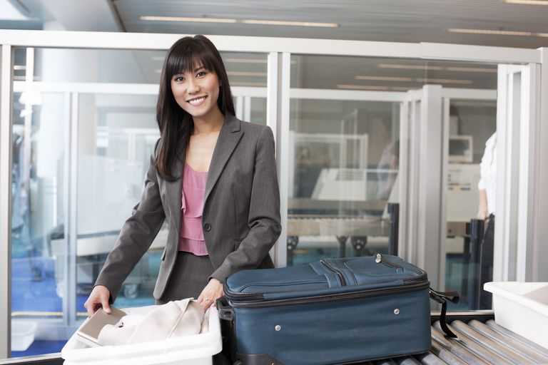 Woman on Business Travel, Smiling