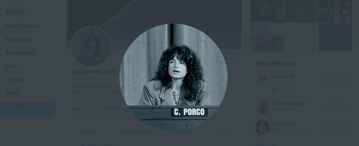 Carolyn Porco on Twitter