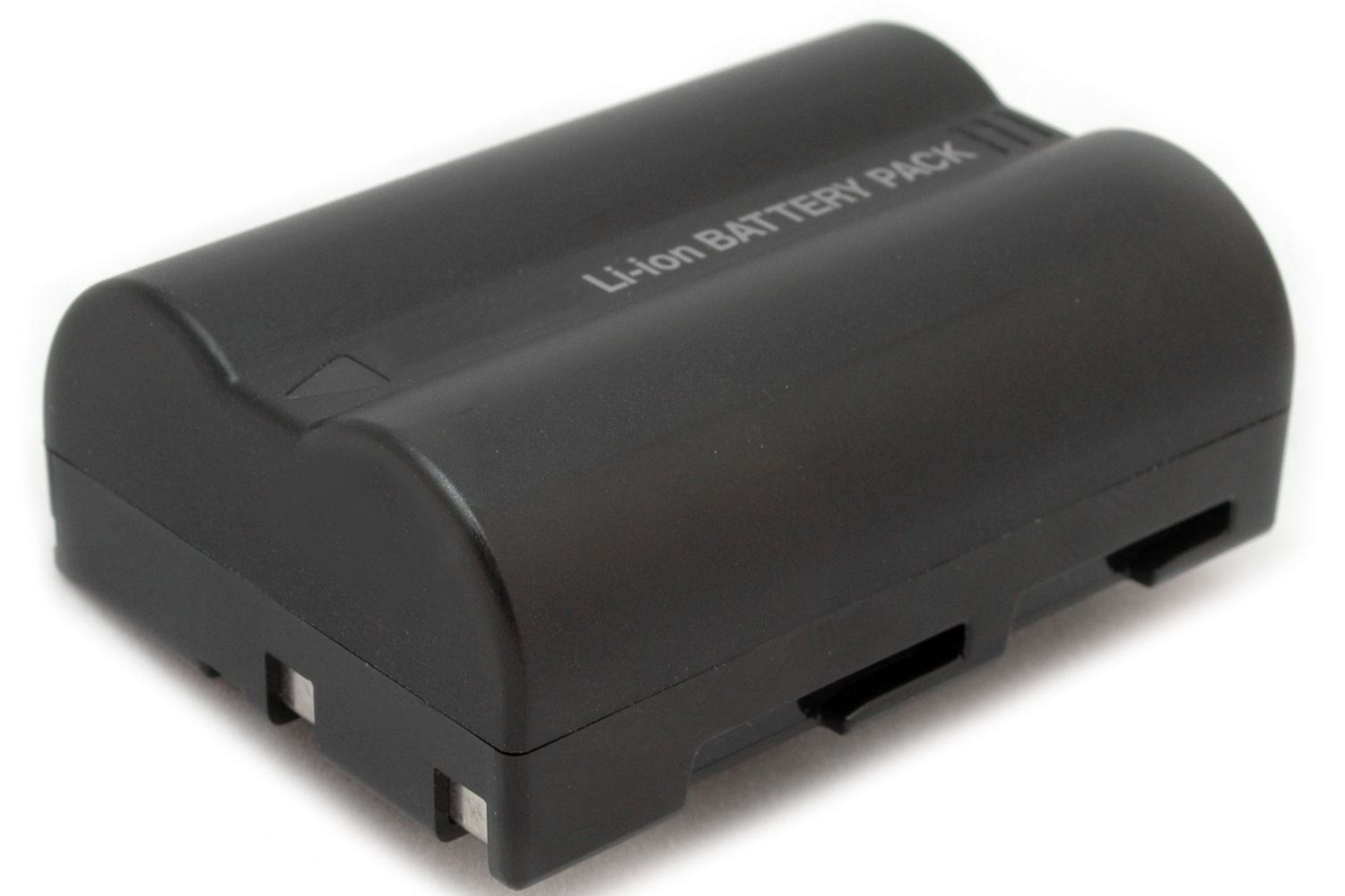 A rechargeable camera battery.