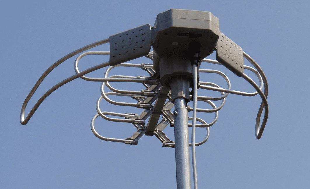 A photo of an outdoor multi-frequency OTA antenna.