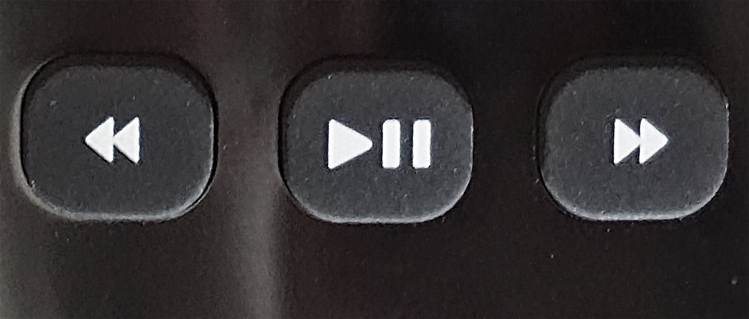 Roku TV Remote — Playback Control Buttons