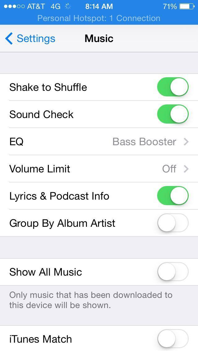 iphone music app settings soundcheck eq volume limit. Black Bedroom Furniture Sets. Home Design Ideas