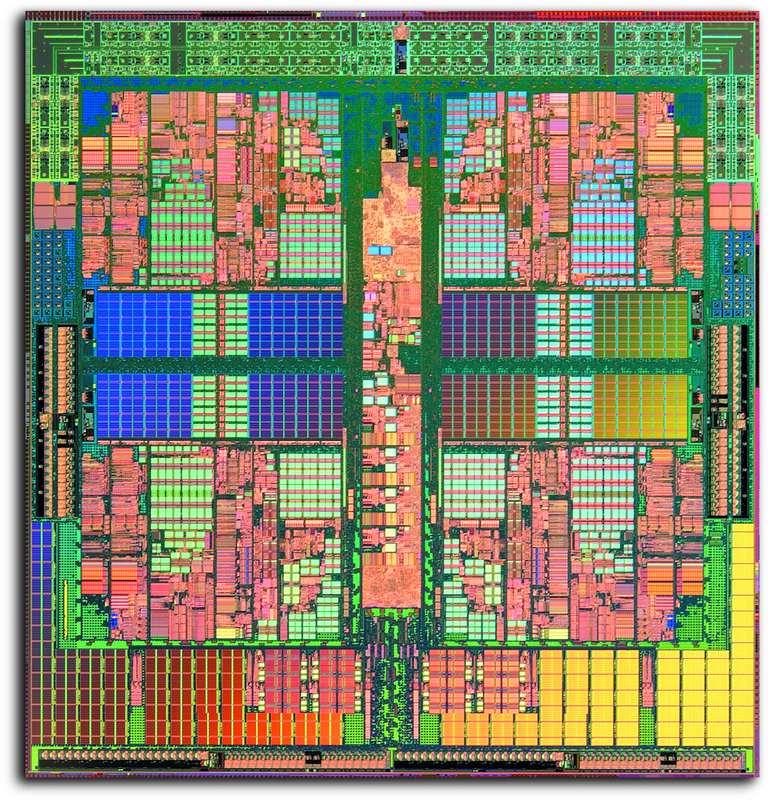 Trace Image of a Quad Core AMD Opteron Processor