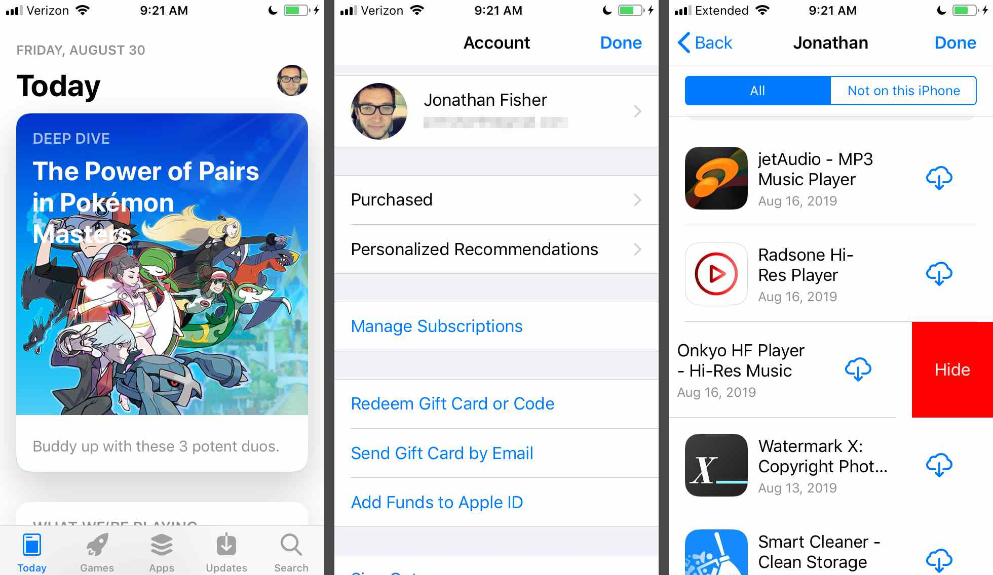 Hide iTunes and App Store Purchases in Family Sharing