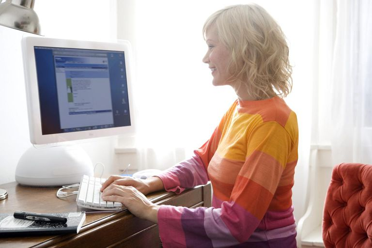 Young Woman Updating Her Blog
