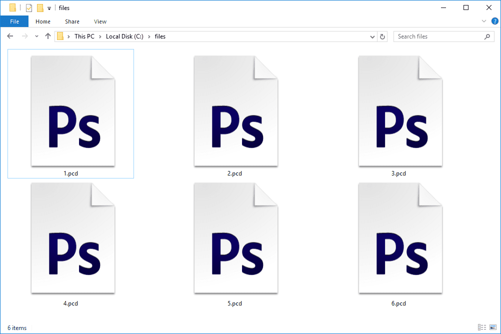 PCD files in Windows 10