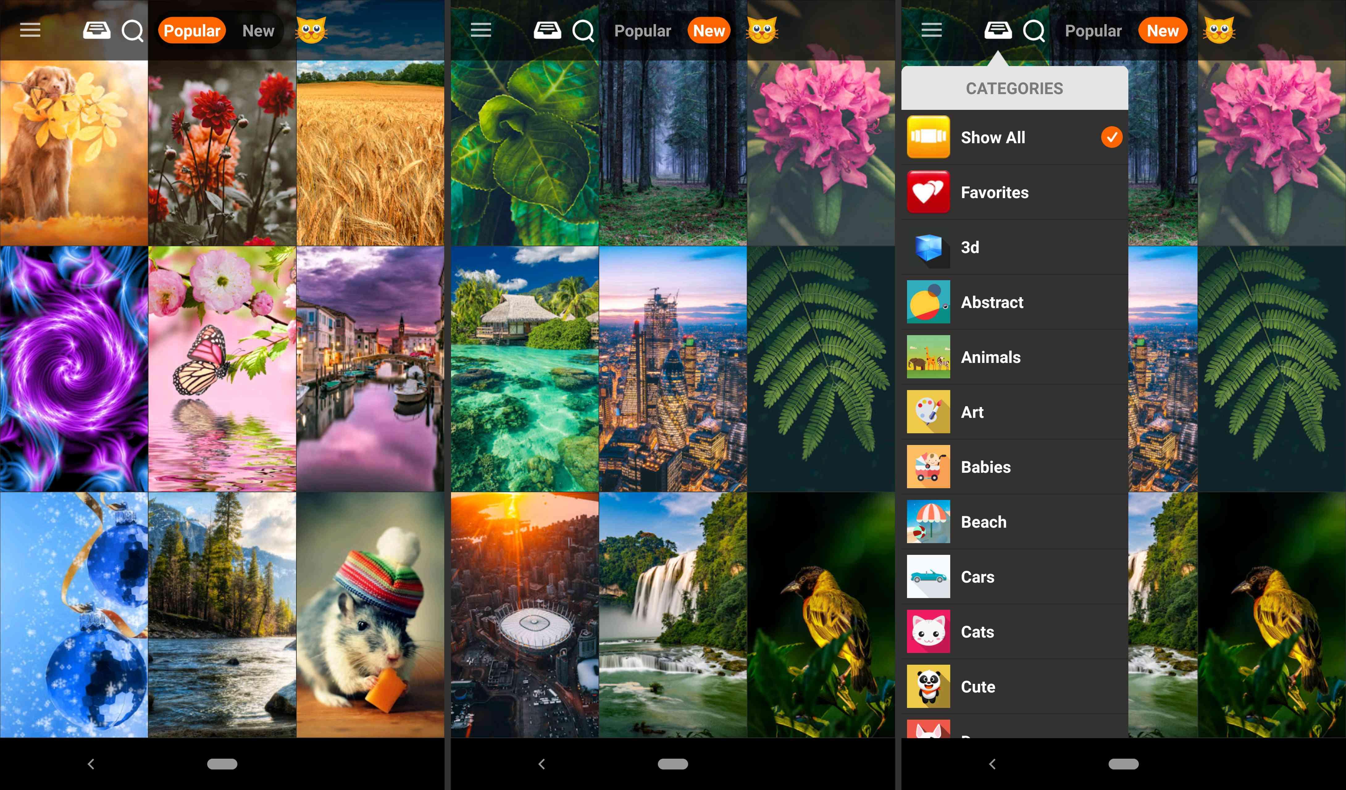Kappboom Cool Wallpapers app.