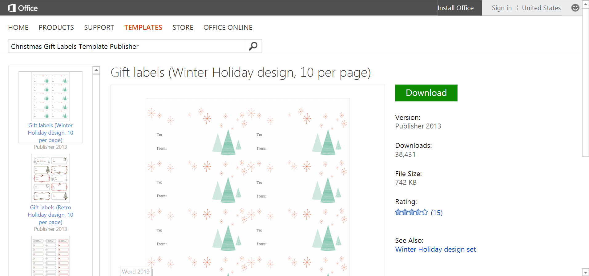 Microsofts best free diy christmas templates spiritdancerdesigns