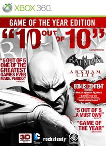 Batman arkham city game of the year xbox 360