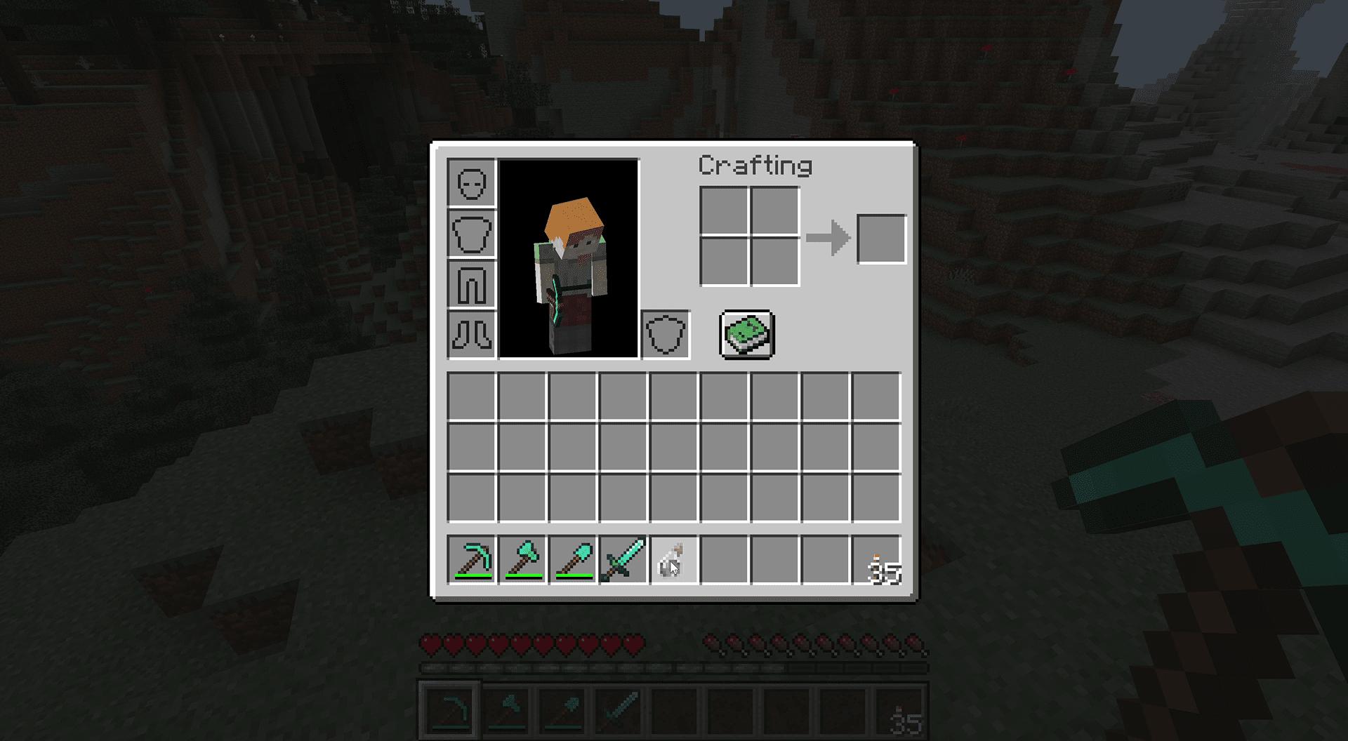 A poison splash potion in Minecraft inventory.