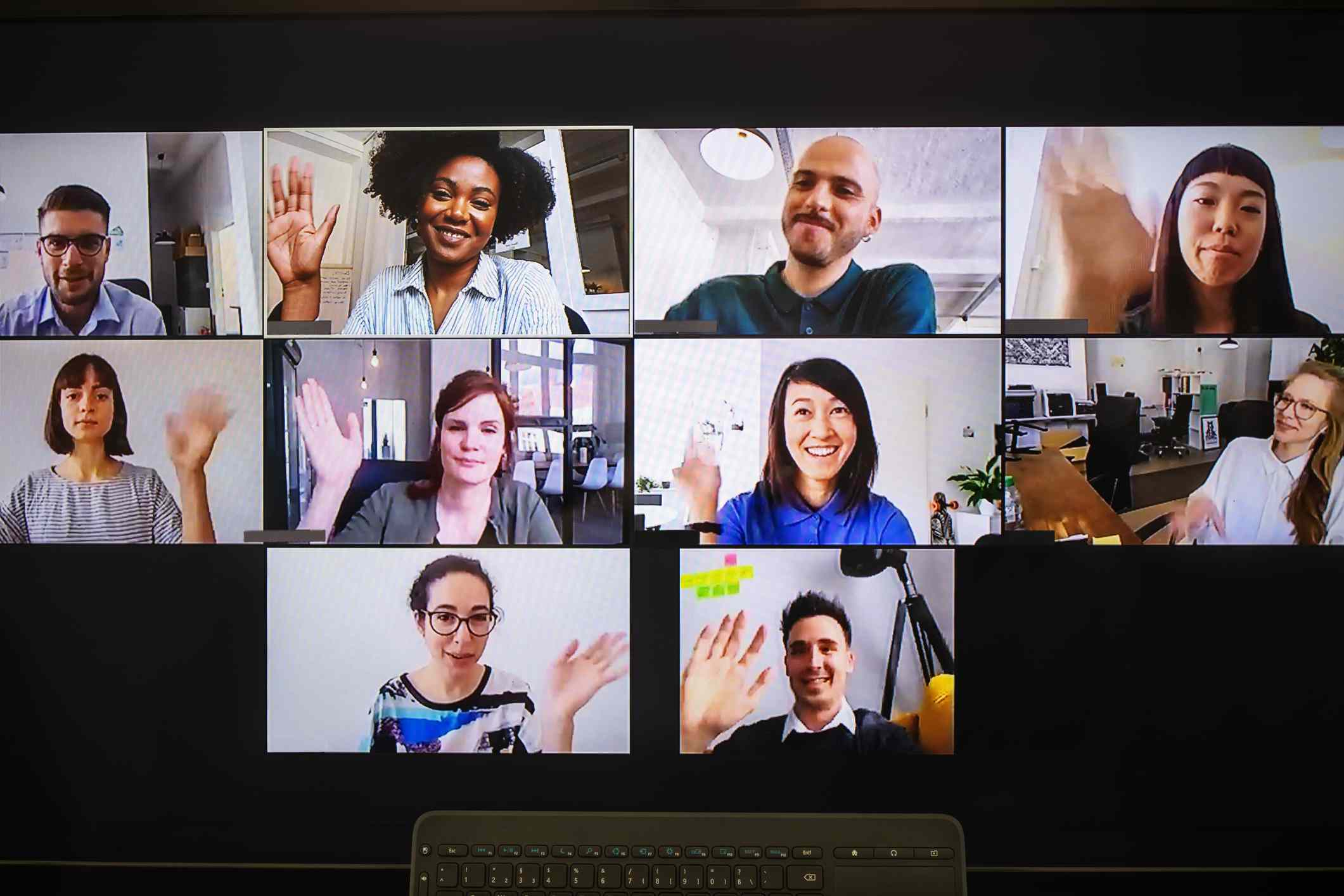 Participants on a video call.