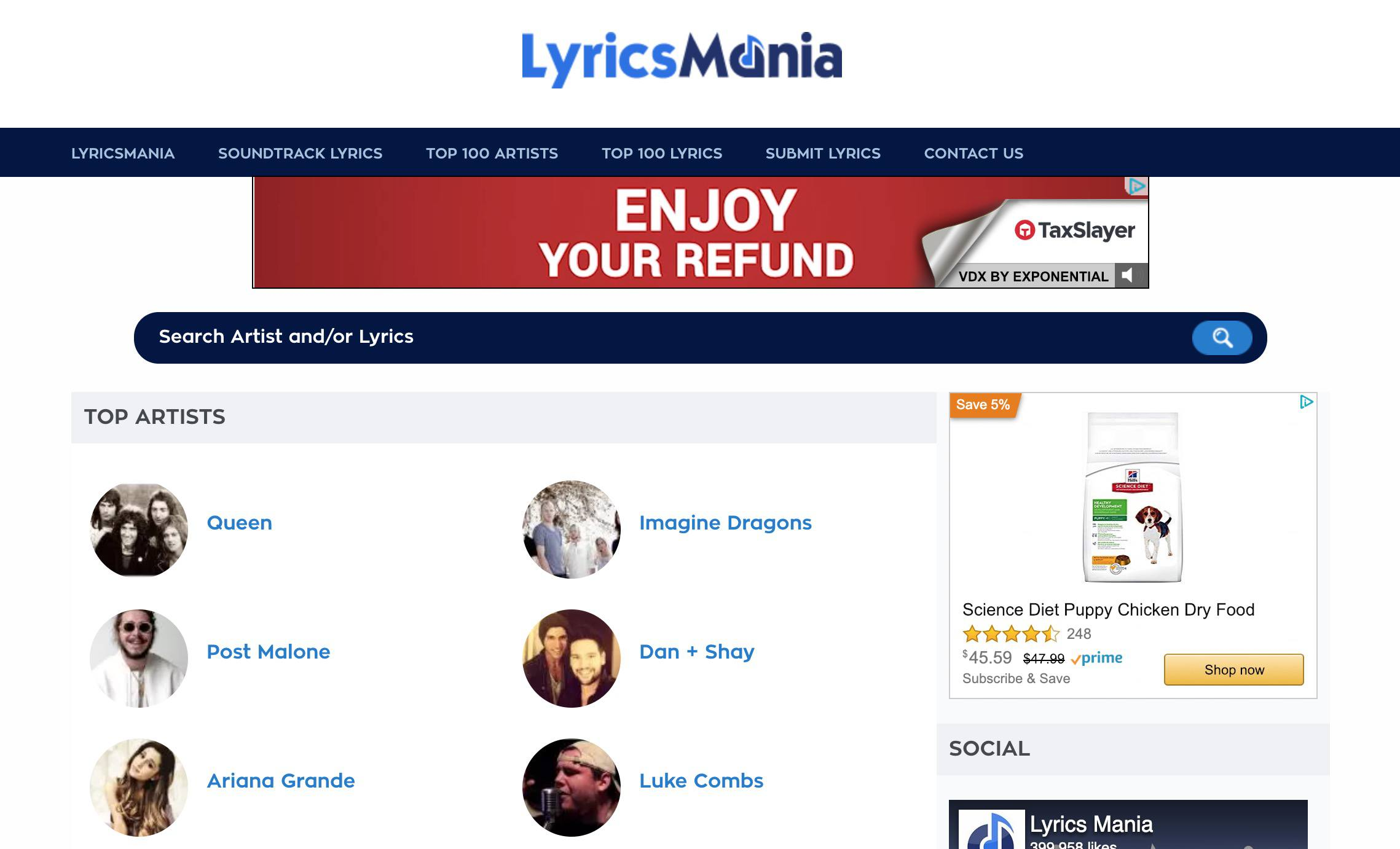 5 Sites to Help You Find Song Lyrics