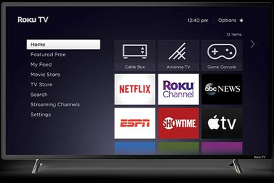 Roku channels on the Roku home screen.