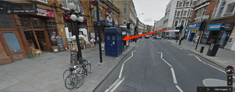 Tardis on Google Maps