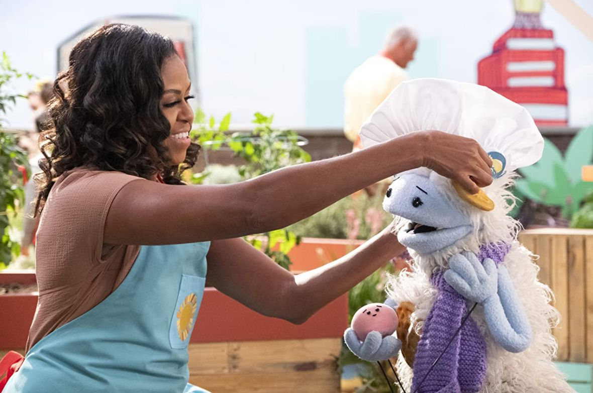 Michelle Obama in the Netflix show 'Waffles + Mochi'