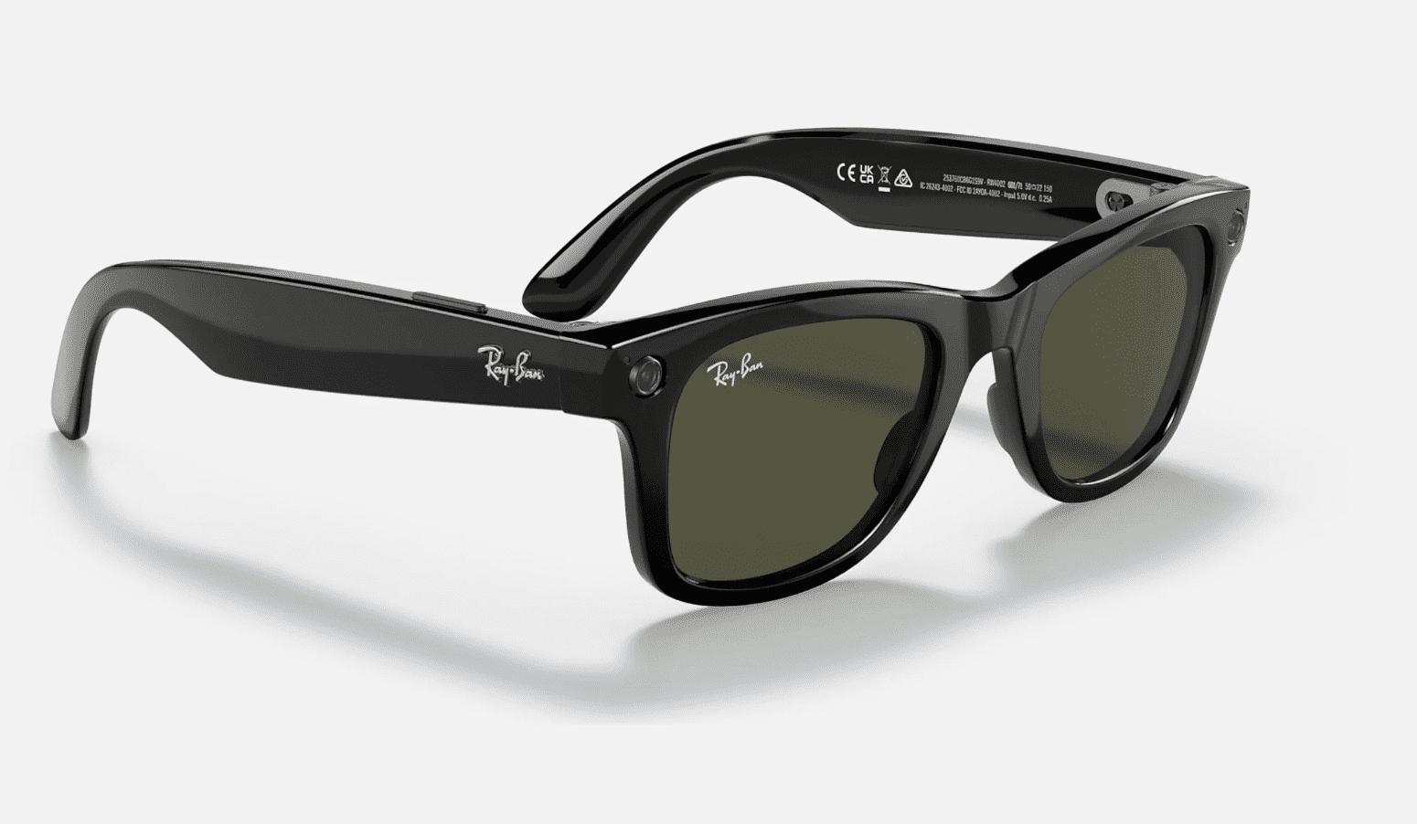 Ran-Ban smart glasses in black