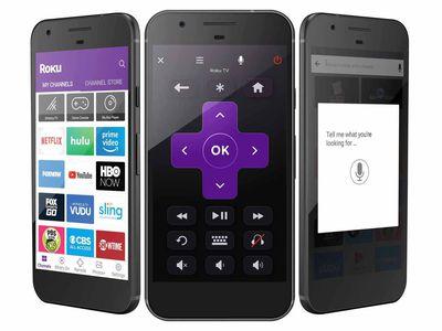 Roku Mobile App screen examples