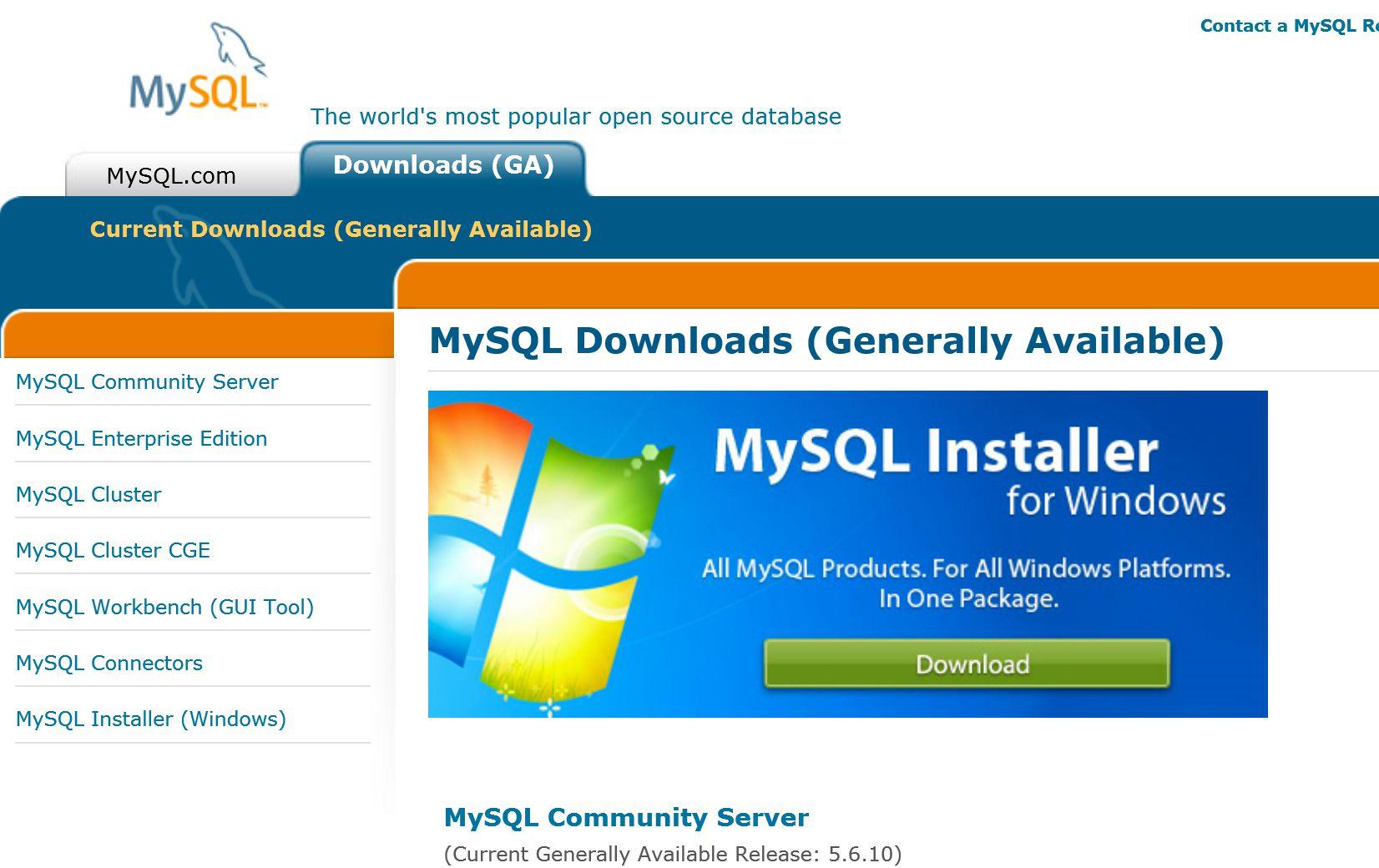 Installing MySQL on Windows 8