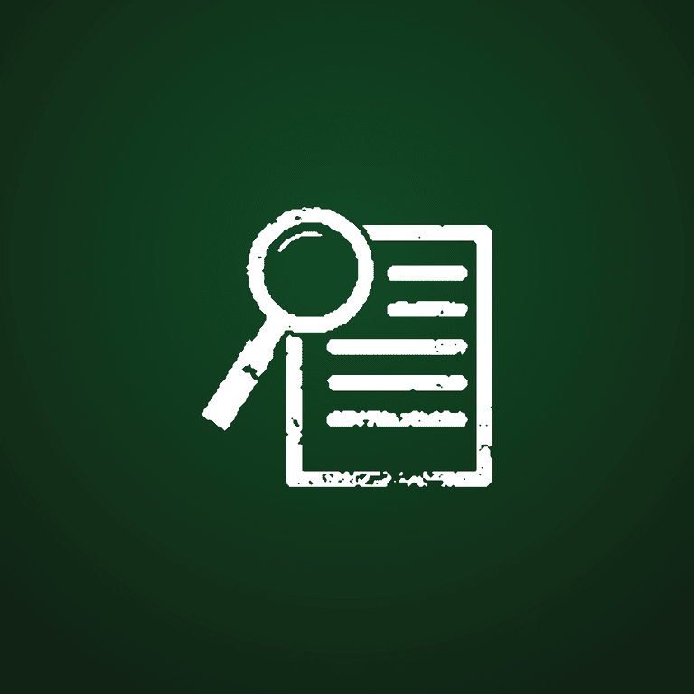 Magnifying glass with document concept
