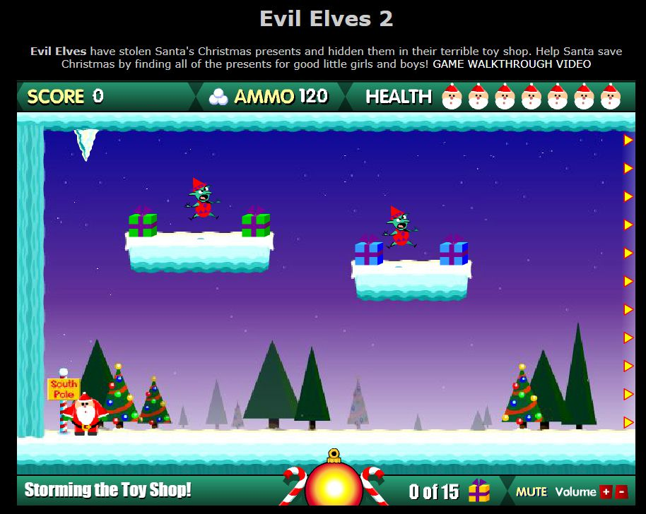 A screenshot of the game Evil Elves 2