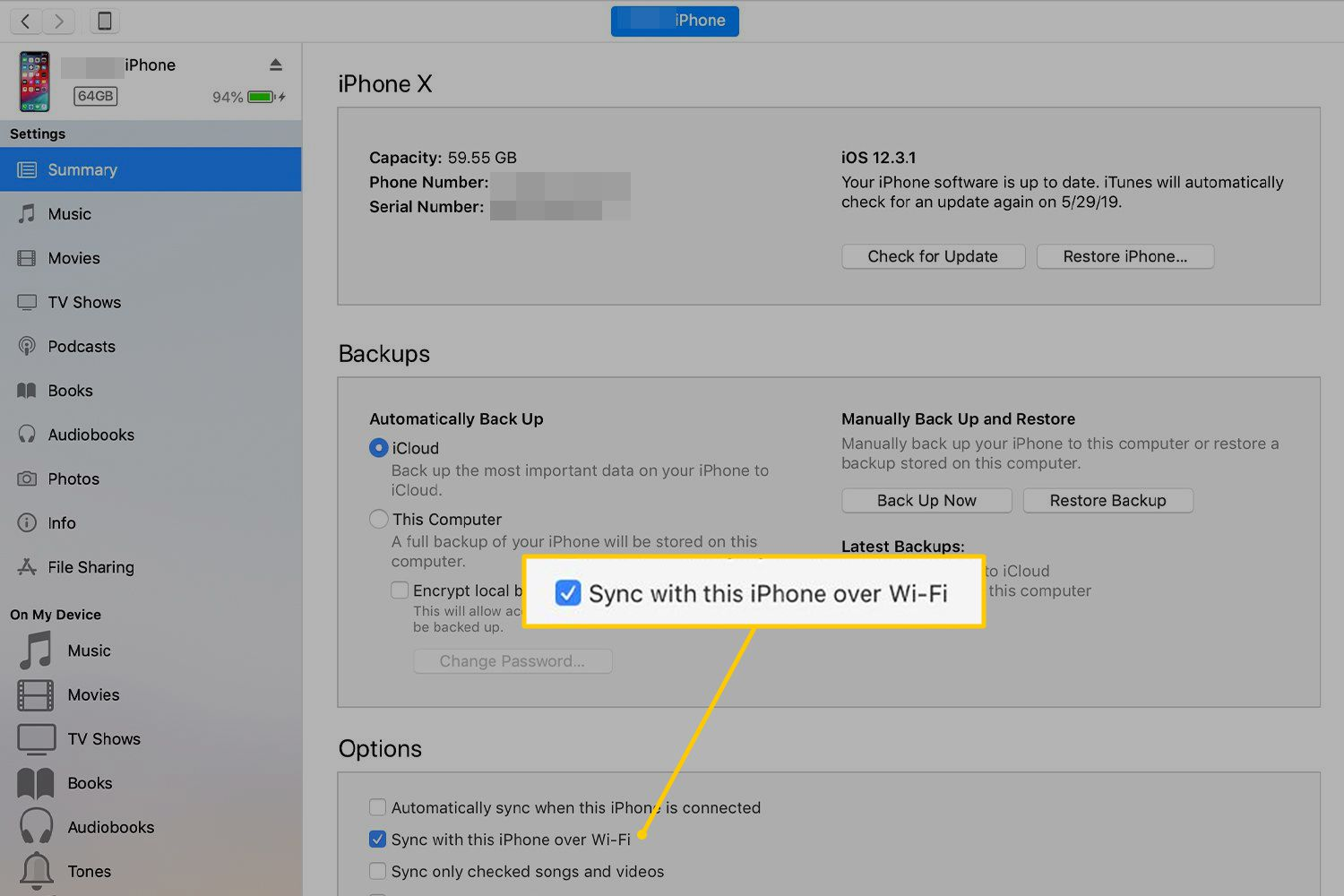 How to Sync iPhone Over Wi-Fi