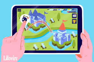 An illustration of a strategy game on an iPad.