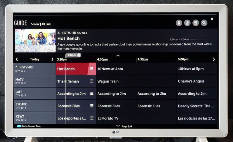 LG TV Channel Guide Example