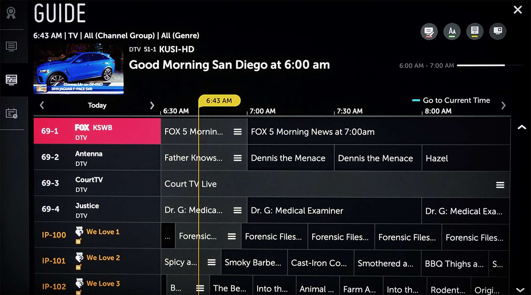 LG Antenna TV and LG Channels Combined Listing