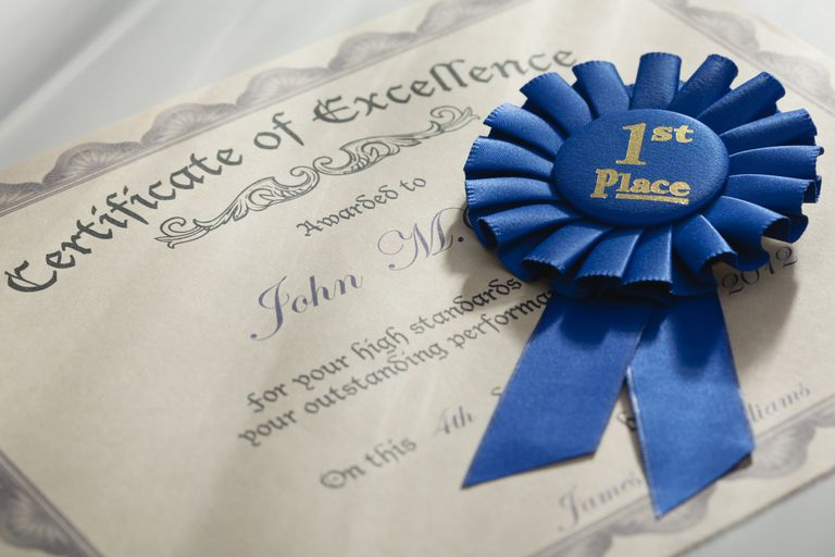 necessary parts of an award certificate