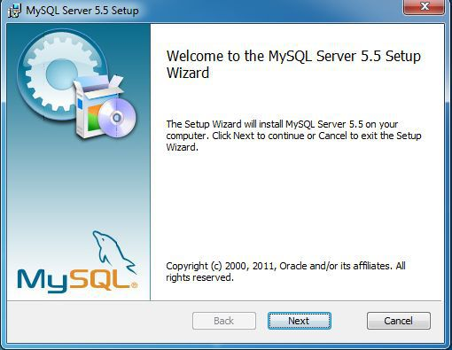 Installing MySQL Database Server on Windows 7