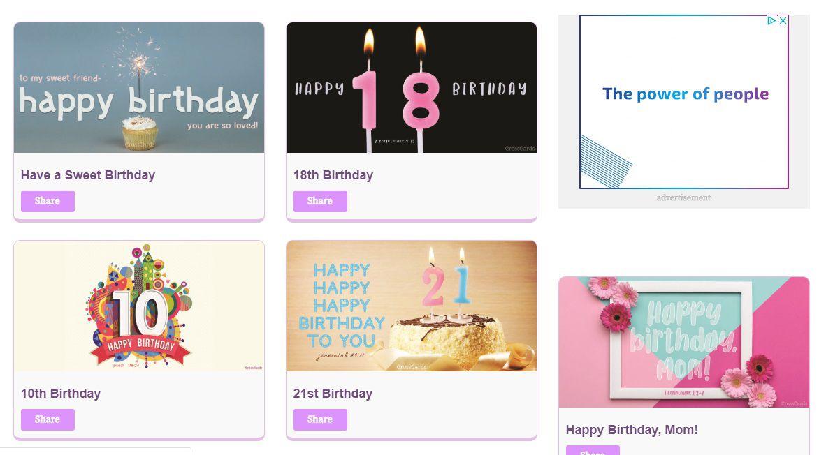 CrossCards Birthday E Cards