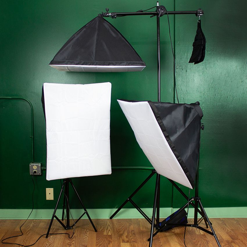 StudioFX 2400W Large Softbox Lighting Kit